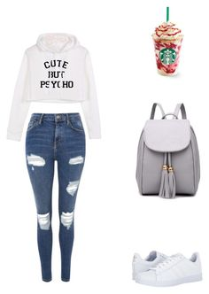 """""""Untitled #4278"""" by privetik1 ❤ liked on Polyvore featuring Topshop and adidas"""