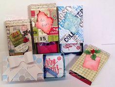 Matchbox gift card w/envelope punch board
