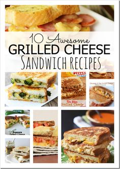 10 Awesome Grilled Cheese Sandwich Recipe Ideas - Page 2 of 2 - Princess Pinky Girl Grill Cheese Sandwich Recipes, Soup And Sandwich, Cheese Recipes, Sandwich Ideas, Salad Recipes, I Love Food, Good Food, Yummy Food, Delicious Recipes