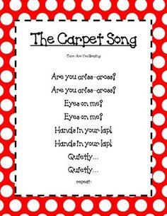 Preschool Teaching Resource Kindergarten Songs Preschool Classroom
