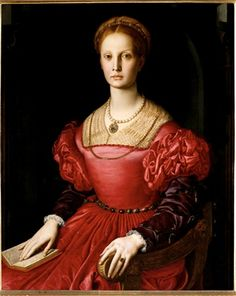 Bronzino. He's a famous mannerism painter and it's a classification of art that's always intrigued me.  I love how the sleeves are a different color