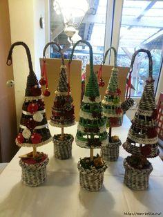 плетение из газет. рождественские идеи (4) (525x700, 293Kb)