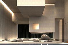 Pavilion Architecture, Interior Architecture, Architecture Drawings, Beautiful Architecture, Feature Wall Design, Hotel Lobby, Ceiling Design, Minimal Design, Office Interiors