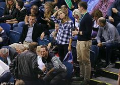 Taking a time out: The game lasted for four hours between Andy and Jamie, and Australian p...