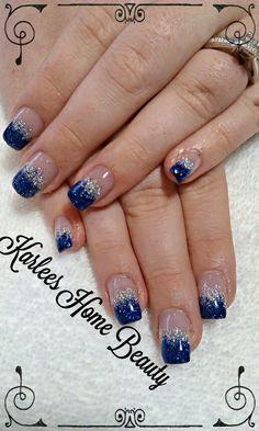 Simple glitter fade acrylic nails
