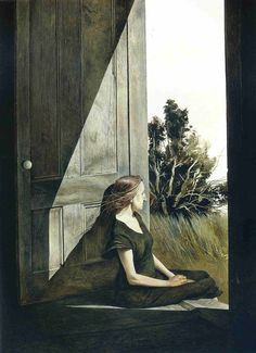 Эндрю Уайет Кристина Олсон 1947, 63.5×83.8 см.