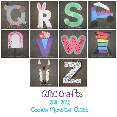 ABC crafts for preschool - 2nd part of alphabet