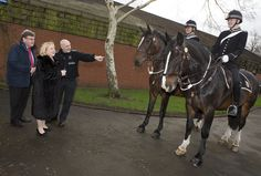 Sharman Birtles JP DL, the High Sheriff of Greater Manchester, paid a visit to Greater Manchester Police's Hough End centre this week to see the work of our  dog and mounted units. She took time out to tour the centre, chat to staff and meet some of the Force's four-legged staff. www.gmp.police.uk