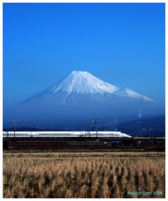 This photo from Shizuoka, Chubu is titled 'Symbols of Japan - On A Clear Day, Shizuoka, Win A Trip, Mount Fuji, Nihon, Japan Travel, Mount Rainier, Journaling, Tokyo
