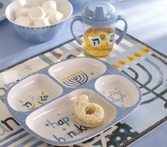 Pottery Barn marks baby's first Hanukkah with some sweet fixtures.
