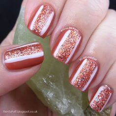 Texas tribute burnt orange nail art glitter by fixintofaff quot i started