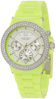 I by Invicta Women's IBI-43944-004 Chronograph Neon Watch -- For more information, visit image link.