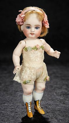 "German All-Bisque Doll by Kestner Known as ""French Wrestler"" 9"" (23 cm.)https://www.theriaults.com/bijoux-january-6-7-2018-newport-beach-ca"