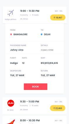 Fly Like A Dragon: UI/UX case Study – Muzli -Design Inspiration Web Design, App Ui Design, Mobile App Design, Mobile Ui, Interface Design, User Interface, Flight App, Fly App, Hotel App