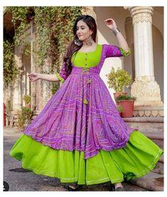 Frock Fashion, Indian Fashion Dresses, Indian Designer Outfits, Indian Gowns Dresses, Designer Dresses, Women's Fashion, Fashion Outfits, Fashion Design, Ikkat Dresses