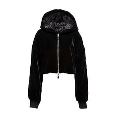 CROPPED BOMBER JACKET (€660) ❤ liked on Polyvore featuring outerwear, jackets, hoodies, tops, clothing - hoodies, cropped jacket, oversized bomber jacket, utility jacket, blouson jacket and pocket jacket