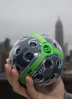 The Panono toss-able sphere camera can take 360-degree photo