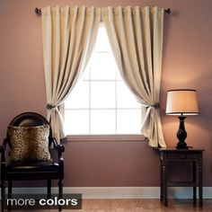 also perfect Back tab (like pleats) black out machine washable short curtains