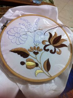New Embroidery Machine Patterns Ideas Stitches Ideas Mexican Embroidery, Hungarian Embroidery, Hand Embroidery Videos, Flower Embroidery Designs, Simple Embroidery, Hand Embroidery Stitches, Machine Embroidery Patterns, Crewel Embroidery, Ribbon Embroidery