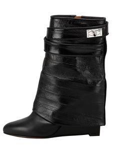 Givenchy Eel Shark Lock Fold-Over Boot - Bergdorf Goodman