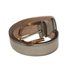 80e5828d748 Gucci Women s Bamboo Buckle Leather Belt 322954 (80 32
