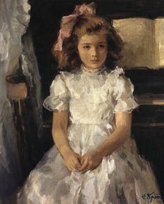 """""""Portrait of Pauline"""" -- by Yuri Krotov (b.1964, Russian)"""