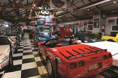 MY Garage Museum houses a private collection of rare and one-off Corvettes and Volkswagens and hundreds of antique automotive collectibles and memorabilia.