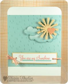 This card is just so reminiscent of a summer sun shower and evokes a very pleasant feeling.