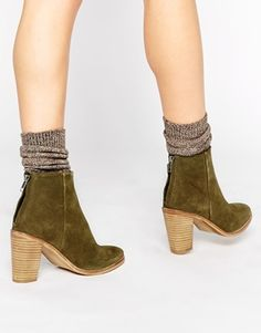 41c1b42a4a43f6 ASOS EDUCATION Leather Ankle Boots Suede Ankle Boots