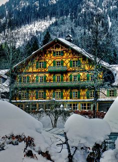 Winter in Bavaria, close to Linderhof Palace, Germany