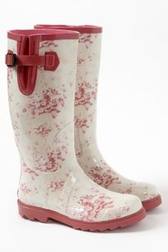My ideal rainboot. Anyone want to buy them for me? 'Antique Floral Hunter' gum boots, $199