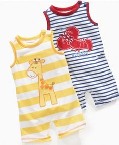 First Impressions Baby Romper, Baby Boys Sleeveless Striped Romper - Kids Swim Shop - Macy's