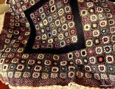 plaids et couvertures crochet - Album photos - Point Granny Au Crochet, Grannies Crochet, Afghan Crochet Patterns, Crochet Squares, Knit Or Crochet, Granny Squares, Crochet Afghans, Plaid, Knitting Yarn