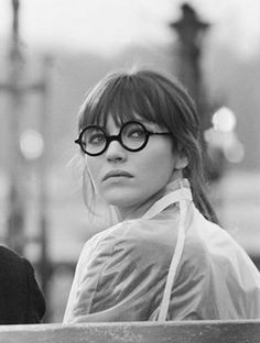 "Anna Karina (really Danish and called Hanna!) in 'Anna' 1968.  ""Move away, away"" says hate ""Come closer, close"" says love"