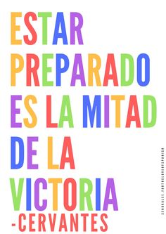 Be Prepared Spanish Poster