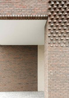 Image 14 of 26 from gallery of Westkaai Towers 5 & 6 / Tony Fretton Architects. Photograph by Peter Cook Brick Architecture, Architecture Details, Interior Architecture, Chinese Architecture, Futuristic Architecture, Brick Cladding, Brick Facade, Concrete Facade, Brick Design