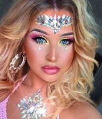 Glamorous Handmade Masquerade, Jewelries & Accessories by Glamorousgala Carnival Makeup, Face Jewellery, Diamond Face, Face Jewels, Face Stickers, Glitz And Glam, Rave Outfits, Eye Make Up, Cool Eyes