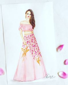 Ideas Fashion Design Sketches Indian For 2019 Dress Design Drawing, Dress Design Sketches, Fashion Design Sketchbook, Fashion Design Drawings, Dress Drawing, Fashion Sketches, Art Sketchbook, Dress Illustration, Fashion Illustration Dresses