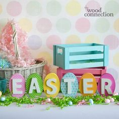 The Wood Connection - Easter Letters With Eggs, $10.95 (http://thewoodconnection.com/easter-letters-with-eggs/)