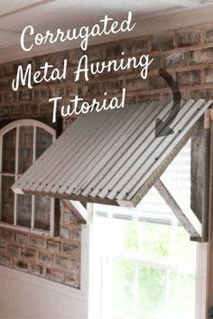 Corrugated Metal Awning DIY – Two Paws Farmhouse