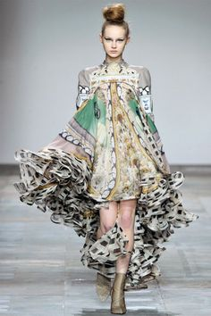 Mary Katrantzou Fall 2012  Is it weird that I would wear this to class?