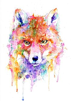 Original Curious Fox Watercolor Art Print, Watercolor Print, Poster, Giclee Print [ANI 26-1] by paintersville. Explore more products on http://paintersville.etsy.com