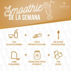 Smoothie de avellana - www.saschafitness.com