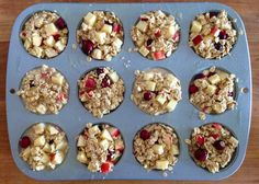 Baked Apple Cranberry Oat-Meals On-the-Go