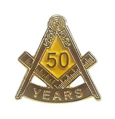 50 YEAR in Freemasonry Lapel Pin Freemasons | Etsy