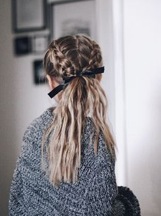 Braids into ponytail