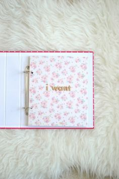 Art Journal to document all of my wants in life. The deep desires, dreams I have, things I want to accomplish, place I want to go. As well as the smaller desires- like chocolate cake, everyday. Love this mini album.