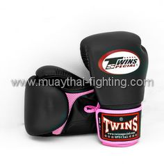 TWINS SPECIAL MUAY THAI GIRLS BOXING GLOVES AIR BGVLA-1 PINK/BLACK US$48.95