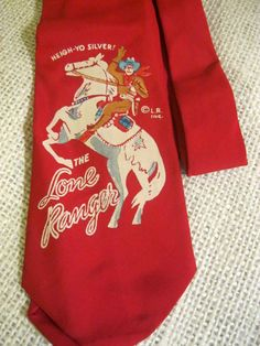 Vintage Lone Ranger Child's Neck Tie Estate 1950s