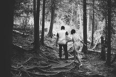 Conservation area walk Caledon // Adventure // Black and White // Muskoka Wedding Photographer ©Eleanor Dobbins Photography